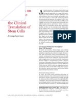 Reflections on Governance Models for the Clinical Translation of Stem Cells