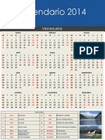 Calendario 2014 Mes a Mes