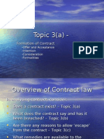 Topic 3(a) Formation of Contract