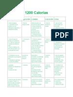 1200 Calorías