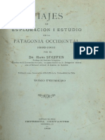 Viajes de esploración i estudio en la Patagonia Occidental 1892-1902. T.I. (1909)
