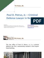 Paul D. Petrus, Jr. – Criminal Defense Lawyer in New York