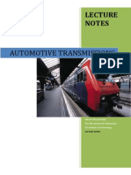 Automotive Transmission -Lecture Notes