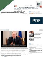 Putin Llama a Obama Para Hablar de Una Propuesta Estadunidense Sobre Ucrania