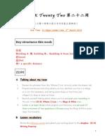 WEEK 22 Checklist
