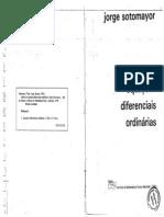 Jorge Sotomayor Lições de Equações Diferenciais