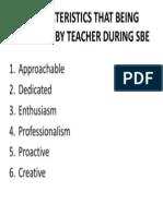 Sbe Teacher