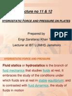 lecture nio 11  12 bio fluid mechanics hydrostatic pressure