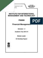 Financial Management PGDM 2013-14