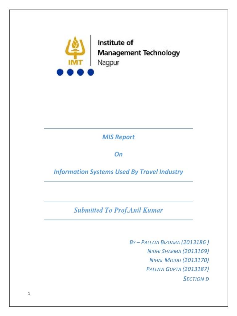 Mis Report | Enterprise Resource Planning | Airlines
