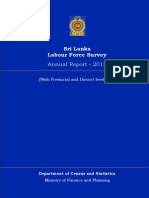 Sri Lanka Labour Force Survey Annual Report - 2012