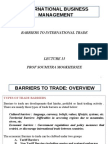 IBE BOP Barriers to Trade