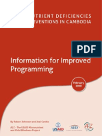 Micronutrient Deficiencies and Interventions in Cambodia -Information