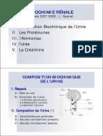 Biochimie rénale (important)