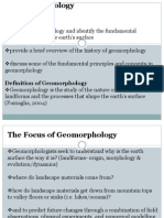 Lecturer 2- Geomorphology and Weathering
