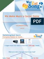 WatZatSong - quelques éléments