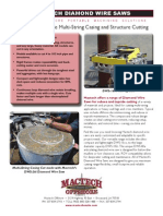 Mactech Offshore Diamond Wire Saws Specification Sheet