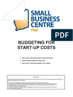 budgeting for start-up costs