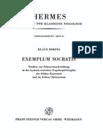 Döring, Exemplum Socratis. Studien zur Sokratesnachwirkung in der kynisch-stoischen Popularphilosophie der frühen Kaiserzeit und im frühen Christentum
