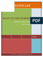 right of fair hearing