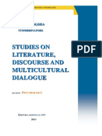 Iulian Boldea (Editor), STUDIES ON LITERATURE, DISCOURSE AND MULTICULTURAL DIALOGUE, Section Psychology, Arhipelag XXI Publishing House, Tirgu Mures, 2014
