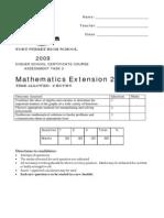 2009 Yr 12 Extn 2 Assess Task 2 Polys Graphs