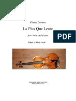 Debussy La Plus Que Lente Violin