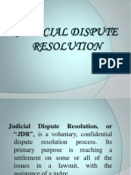 Judicial Dispute Resolution Ppt