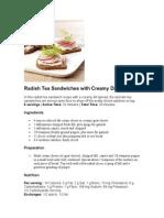 Radish Tea Sandwiches With Creamy Dill Spread