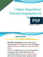 19 Sputtering and Evaporation Presentation-Ravi Chawla