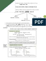 Reacções ácido - base e titulações