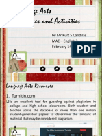 j  language arts resources and activities