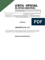 Decreto 131 Ext 552 Del 23-12-2014 Permanencia Adolecentes y Ni