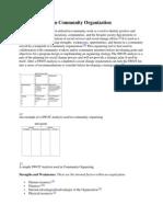 SWOT Analysis in Community Organization