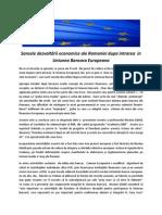 Sansele dezvoltării economice ale Romaniei dupa intrarea  in Uniunea Bancara Europeana