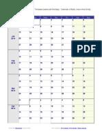 Weekly Calendar Monday