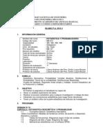 Silabo de Estadistica y Probab 2014 1