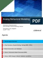 4 Singapore Analog Behavioral Modeling
