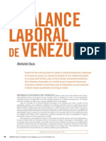 Balance Laboral en Venezuela