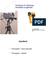 Termoviziune in Infrarosu, Generalitati Si Aplicatii in Industrie Si Constructii