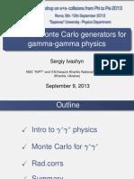 Status of Monte Carlo generators for gamma-gamma physics