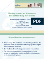 ManagementofCommonBreastfeeding Problems