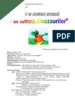 Proiect in Lumea Dinozaurilor