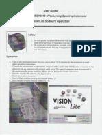 Spec Genesys 10 UV Scanning Spectrophotometer VisionLite Software