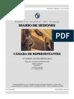 Diario de Sesiones Del Dia de La Votacion