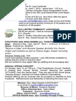 Bulletin - Sunday, March 30, 2014 - Knox)