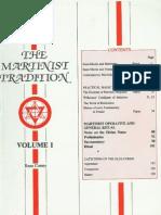 Martinist Tradition-Vol 1