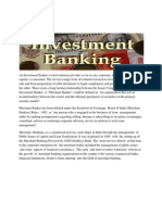 An Investment Banker is Total Solutions Provider as Far as Any Corporate