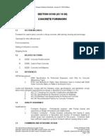03100 (03 10 00) Concrete Formwork
