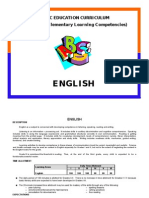 BASI C EDUCATI on CURRI CULUM (Philippine Elementary Learning Competencies)